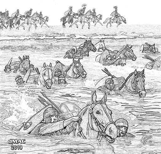 Cavalry swimming Medway