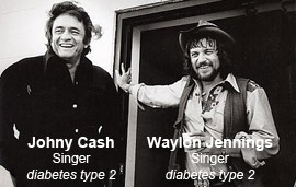 Johhny Cash & Waylon Jennings - country singers