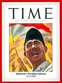 Sukarno on Time magazine 1945