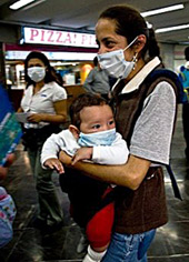 mother child with mask